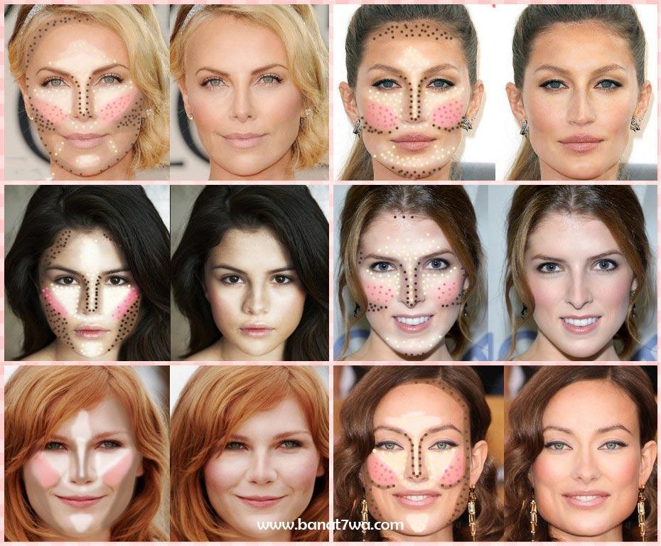 eb651d49b2519 طرق كونتور أشكال الوجوه المختلفة - بنات حوا