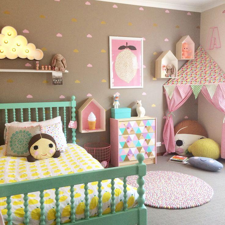 Short Bedroom Curtains Ideas Little Girls Bedroom Paint Ideas Shabby Chic Bedroom Curtains Bedroom Design Pink: أفكارتجنن لديكور غرف نوم الأطفال