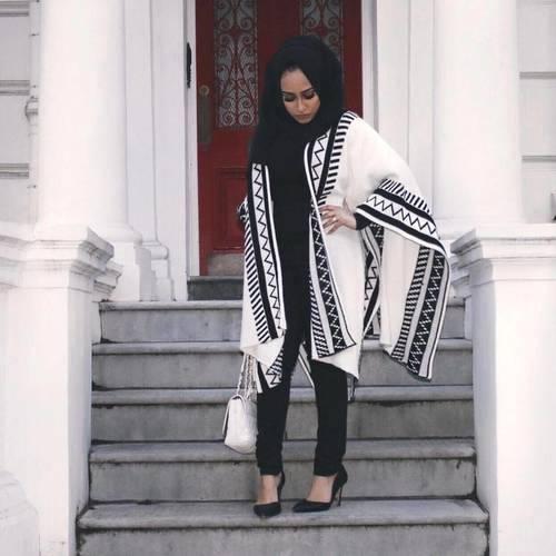 3b273f583 كوليكشن ملابس شتوية للمحجبات فى شتاء 2018 winter kintted hijab outfits